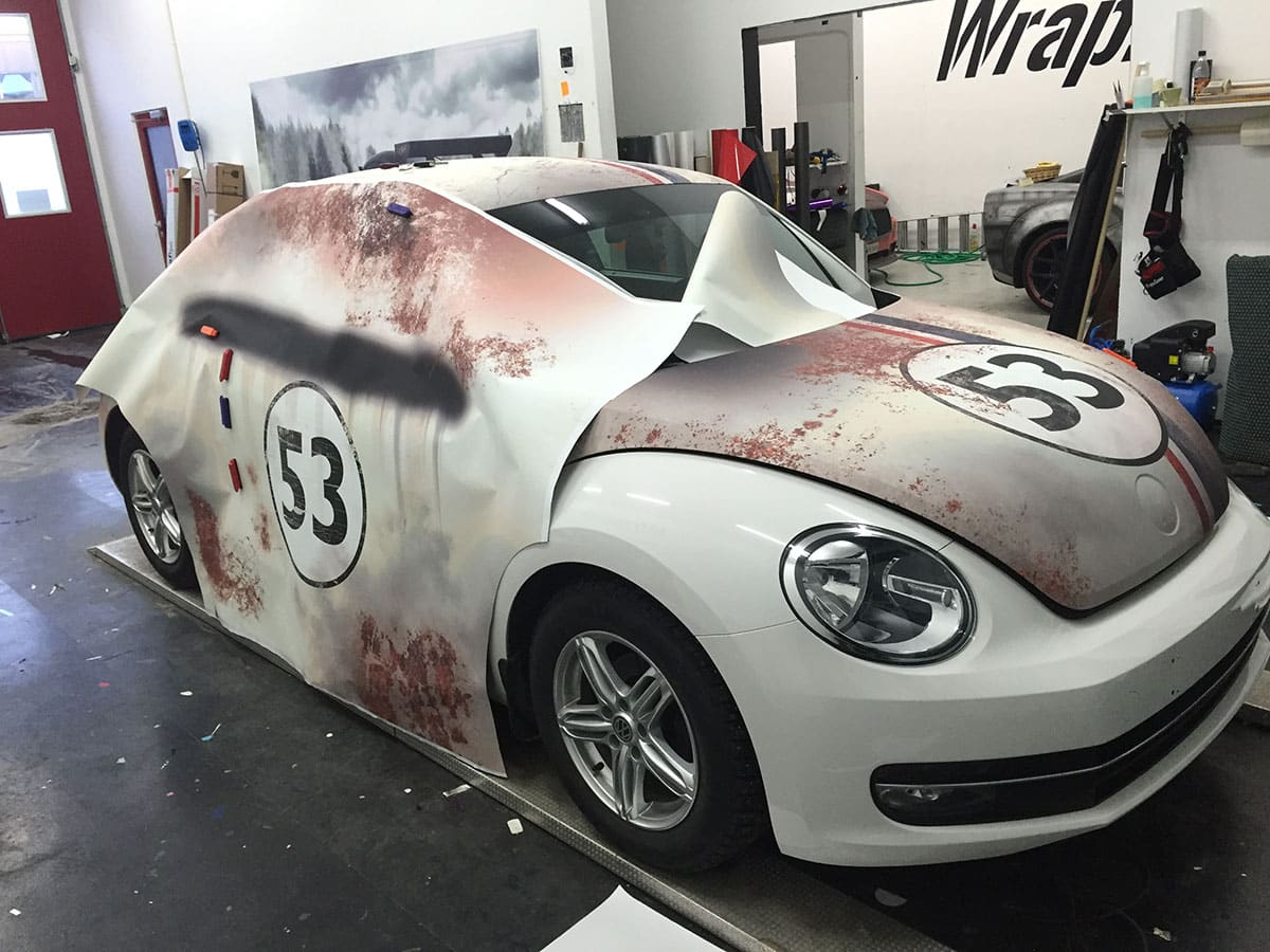 Custom Herbie Beetle Wrap