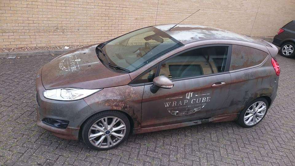 Ford Fiesta Rust Wrap For Wrap Cube Skepple Inc