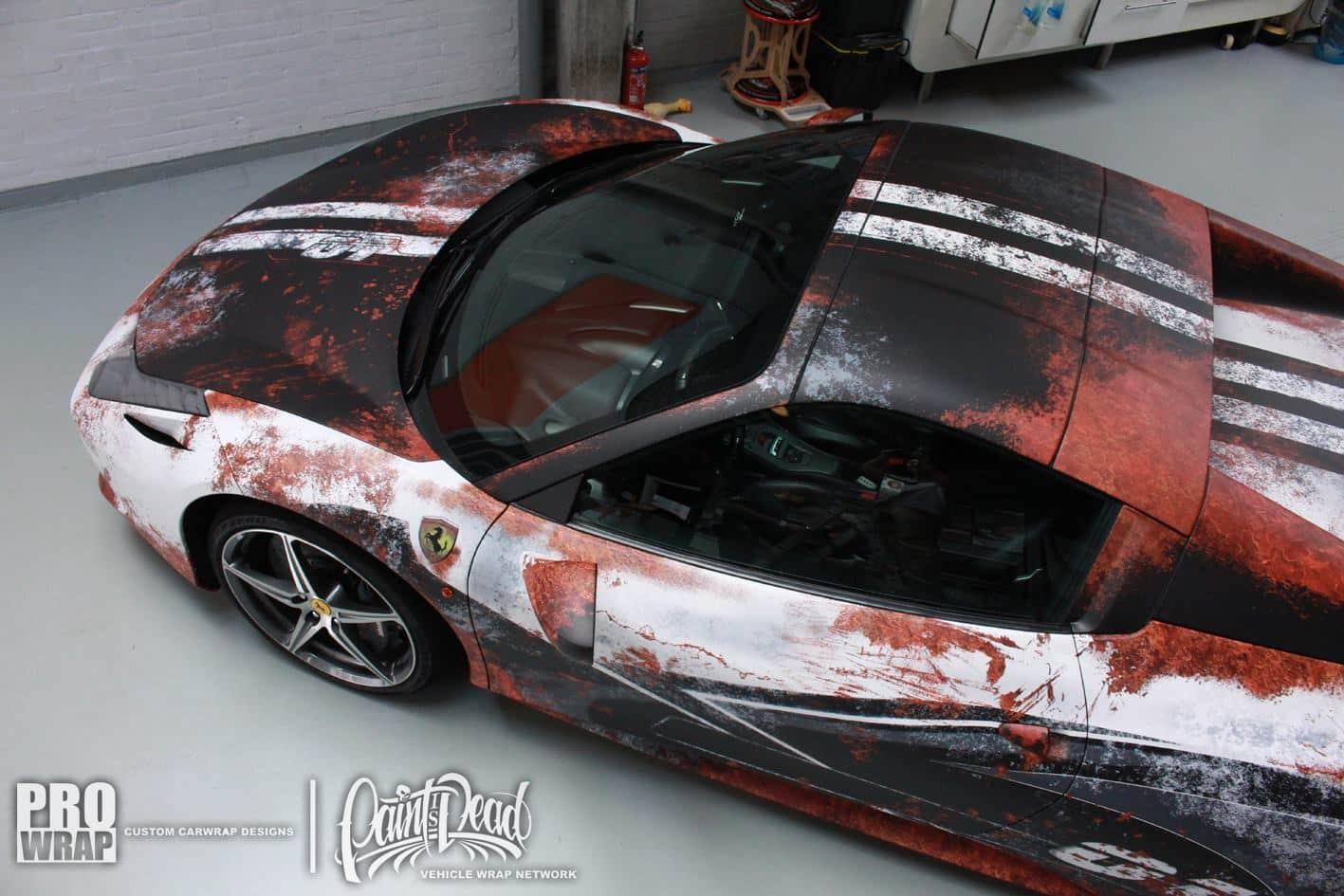 2016 Ford Bronco >> Ferrari 458 Italia Rust Wrap | Skepple Inc