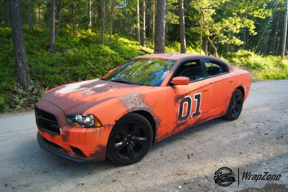 General Lee Dodge Charger Rust Wrap Skepple Inc