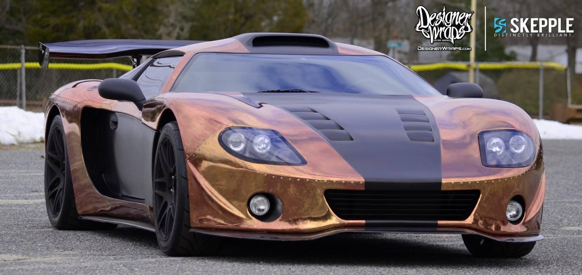 Custom copper panel wrap design for designer wraps millville nj