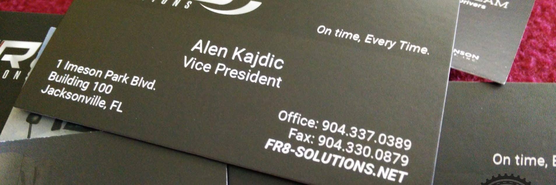 Fr8 solutions business cards skepple inc business cards for fr8 solutions reheart Images