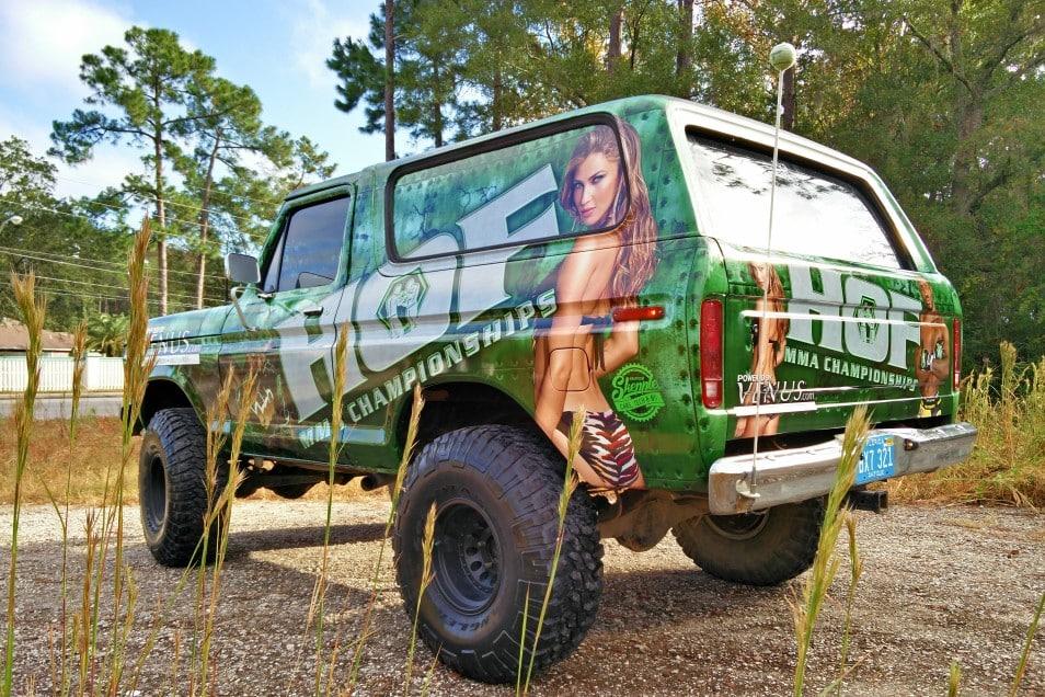 House of Fame MMA Ford Bronco Vinyl Wrap | Skepple Inc