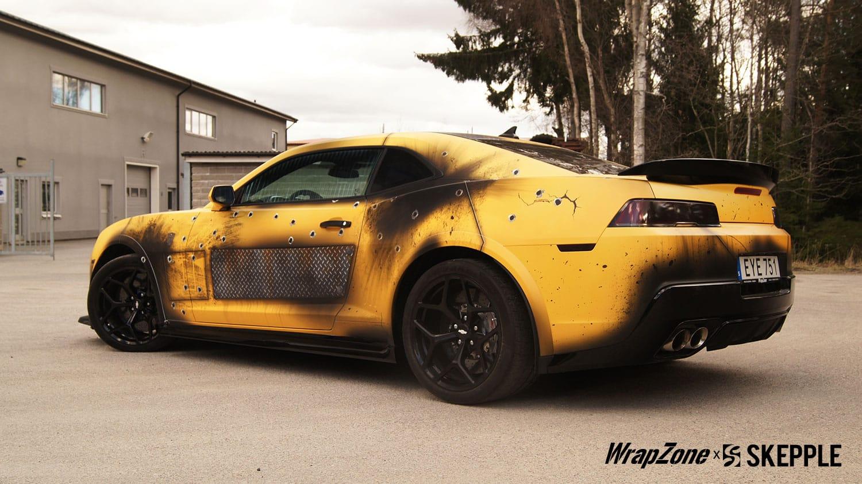 Honda Civic Commercial >> Transformers Bumblebee Battle Vinyl Wrap | Skepple Inc