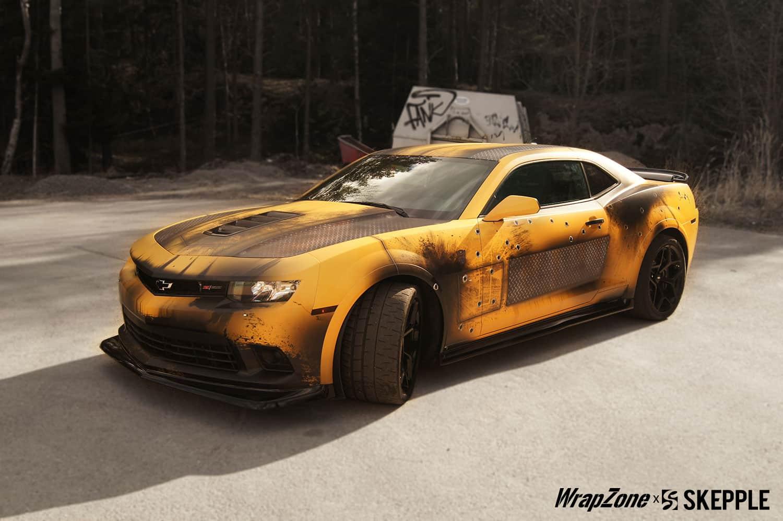 Transformers Bumblebee Battle Vinyl Wrap   Skepple Inc