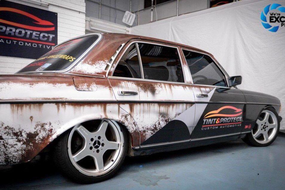Tint Amp Protect Mercedes Rusty Vinyl Wrap Skepple Inc