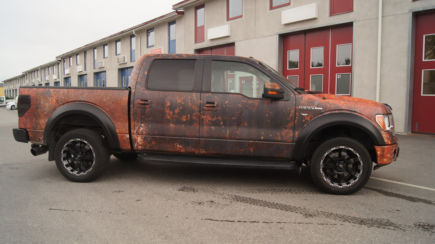 Ford F 150 Rusty Vinyl Wrap Design Skepple Inc