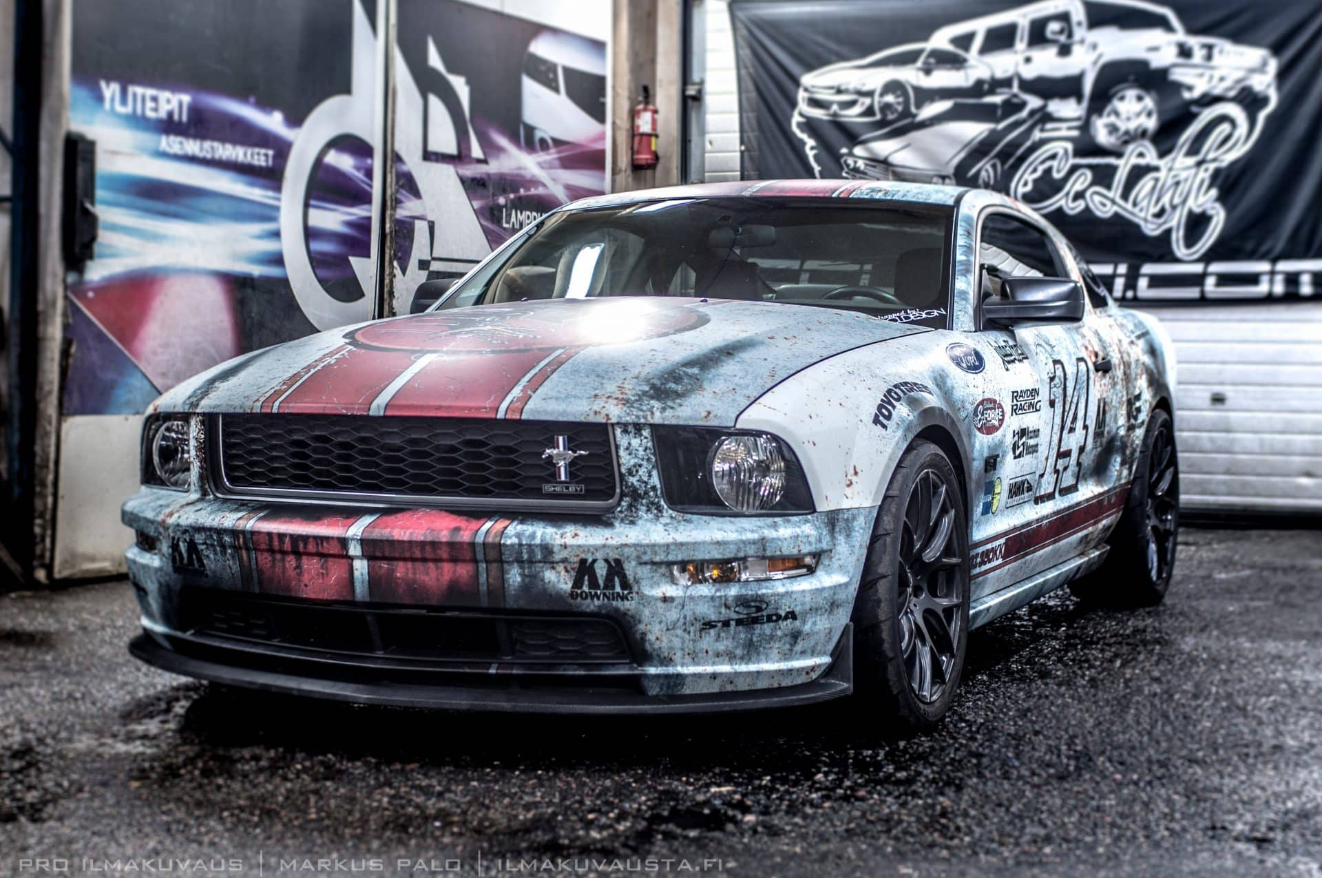 Retro Rust Wrap Design Ford Mustang GT | Skepple Inc