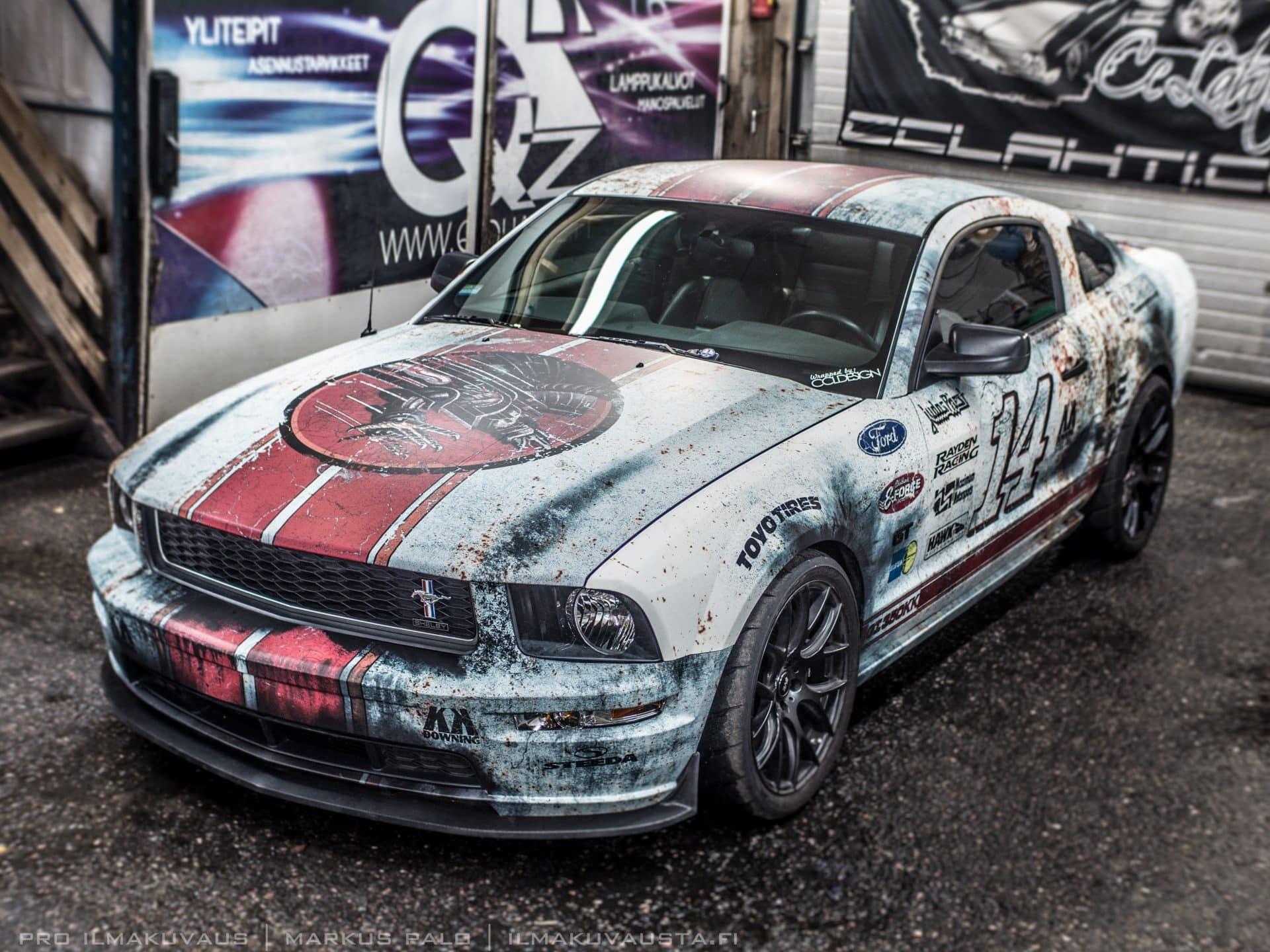 Retro Rust Wrap Design Ford Mustang GT | Skepple Inc
