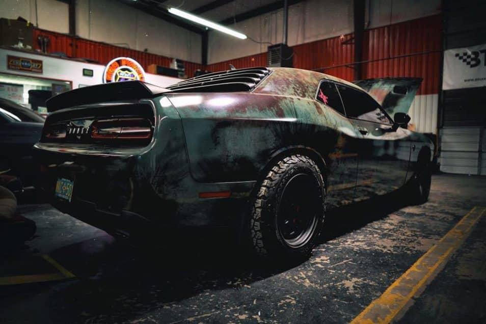 dodge challenger hellcat custom rust fighter wrap design for dodge ...