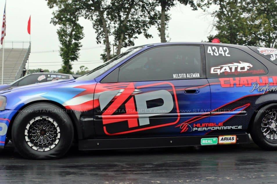 4P Race Car Civic Hatchback Wrap Design By Skepple Inc