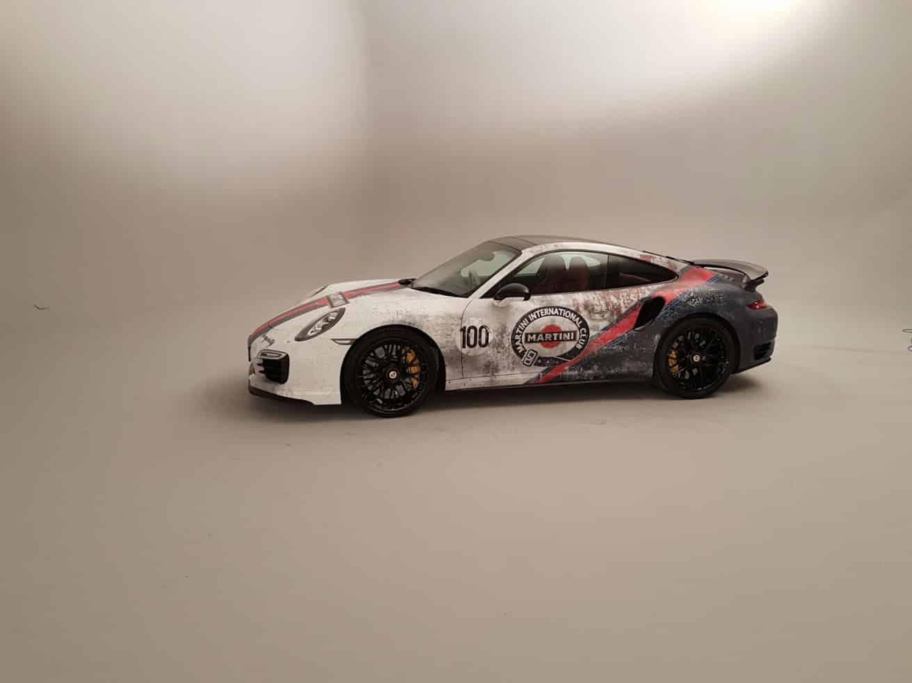 Retro Martini Weathered Livery Porsche Turbo S Skepple Inc