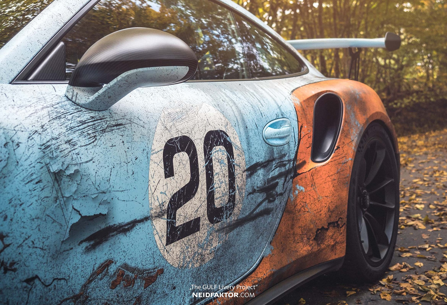 Car Wrap Vinyl >> Weathered Gulf Livery Porsche GT3RS | Skepple Inc