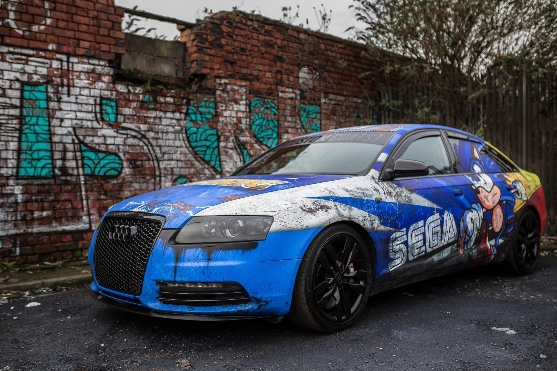 SEGA Rust Wrap Audi S By Skepple Inc And Custom Coats Skepple Inc - Audi custom