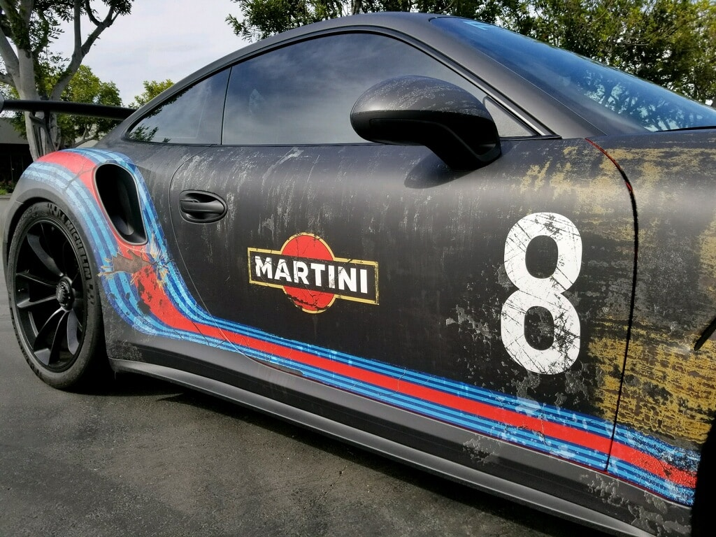 weathered martini rust wrap design porsche gt3rs by skepple inc and