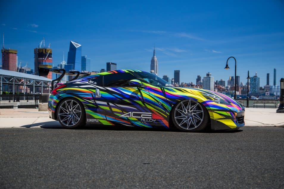 Nissan 370z Art Car Wrap Design Skepple Inc